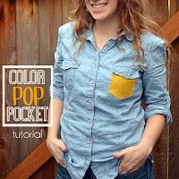 color pocket on shirt
