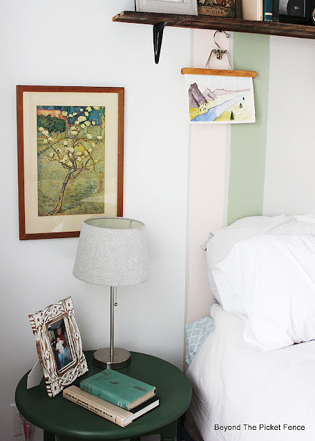 side table in a guest bedroom