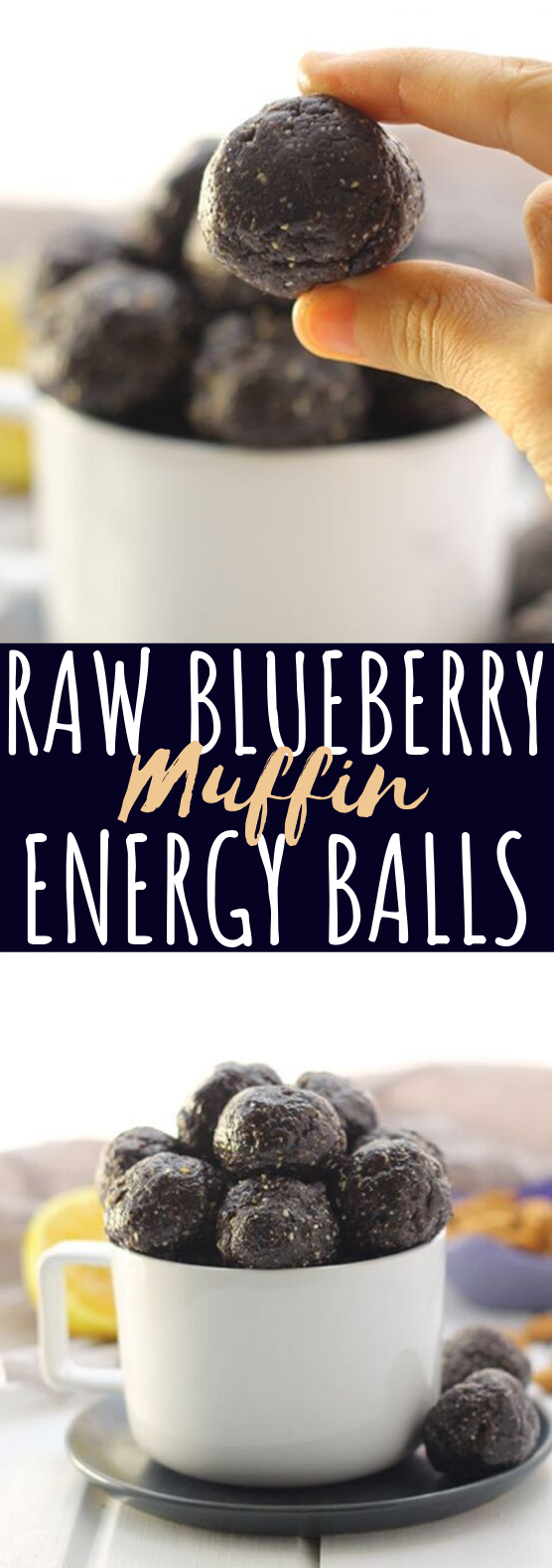 Raw Blueberry Muffin Energy Balls #healthy #snacks