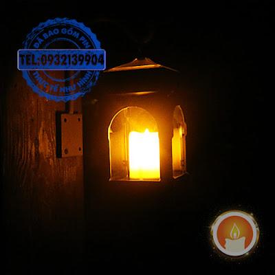Lồng đèn cầy treo pin năng lượng mặt trời