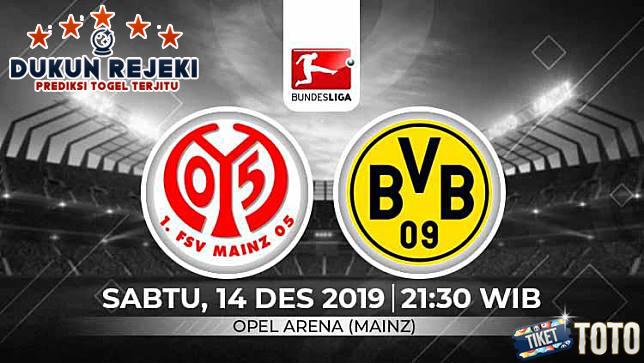 Prediksi Mainz vs Borrusia Dortmund 14 Desember 2019