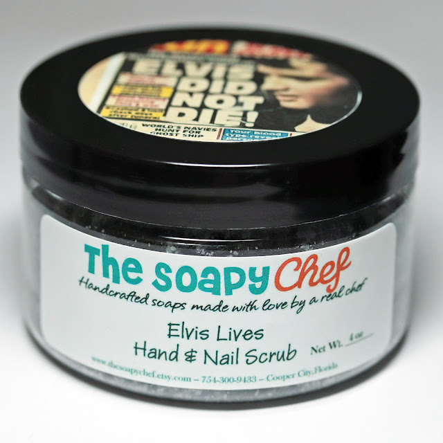 The Soapy Chef Elvis Lives Charcoal Snow Hand and Nail Scrub