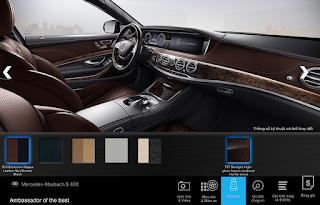 Nội thất Mercedes Maybach S400 4MATIC 2017 màu Nâu Nut / Đen 514