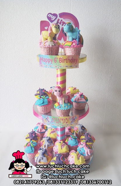 Cupcake Tier Ulang Tahun Tema My Little Pony