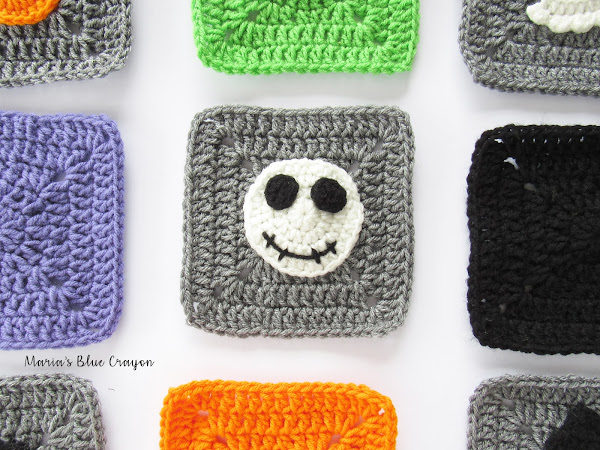Halloween Skeleton Granny Square Free Pattern
