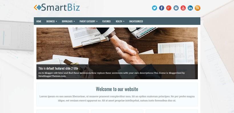 SmartBiz Free Blogger Template