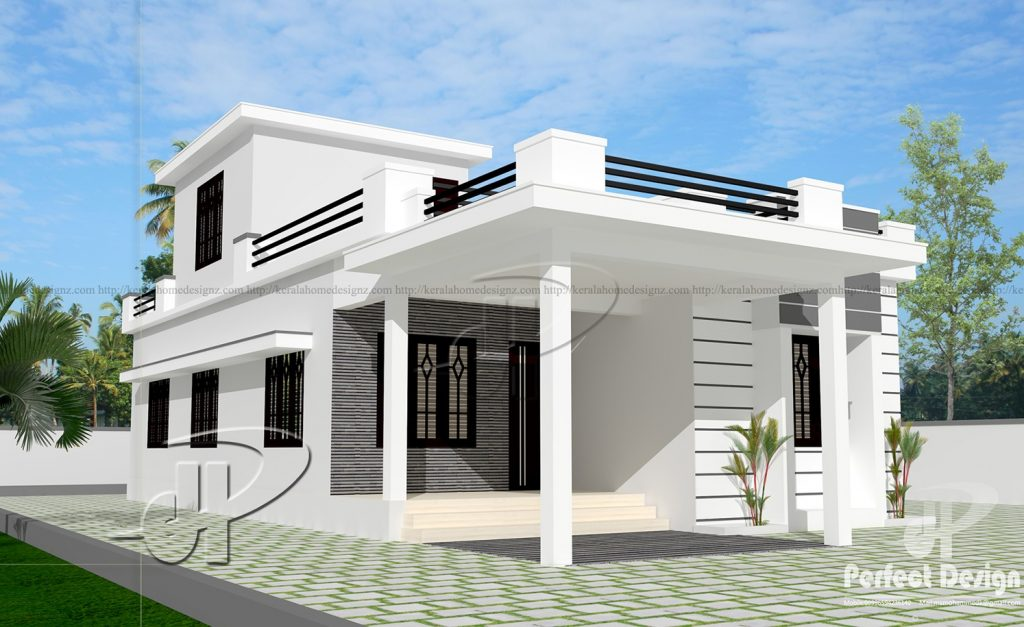 Looking for a small house plan that you can build on your small home lot? Here are 40 house designs that you may consider from Kerala Home Designz. These houses can be built in less than 100 square meters home lot.  House Design No. 1 — A simple and beautiful house with a total living area of 99 square meters. It has two bedrooms, a porch and sits outs. It has two bathrooms — one is attached in the master bedroom while the other is a common toilet and bath between the kitchen and dining area.  House Design No. 2 —  A cute house plan with an area of 96 square meters. The two bedrooms have their own bathroom. Homeowners can also enjoy outdoor with its porch and sit out!  House Design No. 3 — A fashionable one-story home you can build designed with a floor area of 79 SQM. It has two-bedrooms with two-bathrooms — one is attached while the other is common. A parking area for one car is included in this plan.   House Design No. 4 — A modern boxy house with a total area of 90 SQM. This house plan has two bedrooms and two bathrooms. Practical ideas for families with three to four members.   House Design No. 5 — A beautiful small house design with a roof deck. This house plan is designed to have two bedrooms and two bathrooms with a total area of 77 SQM.  For those who are looking for extra space, the roof deck is perfect!  House Design No. 6 — This one is a small and stylish house with a total living area of 80 SQM. It has two bedrooms and two bathrooms. It has a small terrace and a porch that you may convert into a small garage.   House Design No. 7 — Another simple house with two-bedrooms and two bathrooms. This house is for people who want to live small and