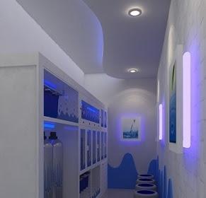 Design Interior Depot Sempit Air Minum Isi Ulang