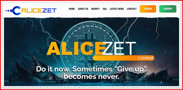 Мошеннический сайт alicezet.biz – Отзывы, развод, платит или лохотрон? Мошенники