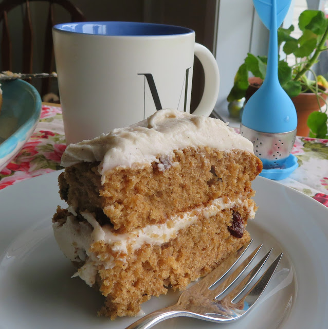Applesauce Spice Cake For Two