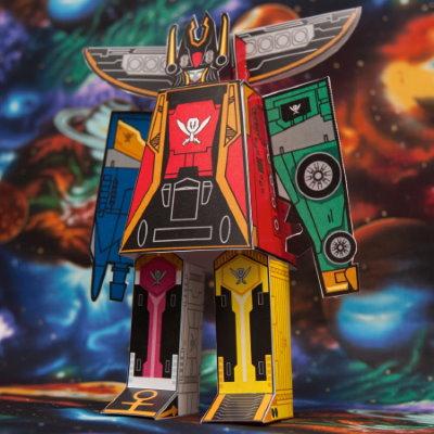 Easy Power Rangers Megazord Papercraft