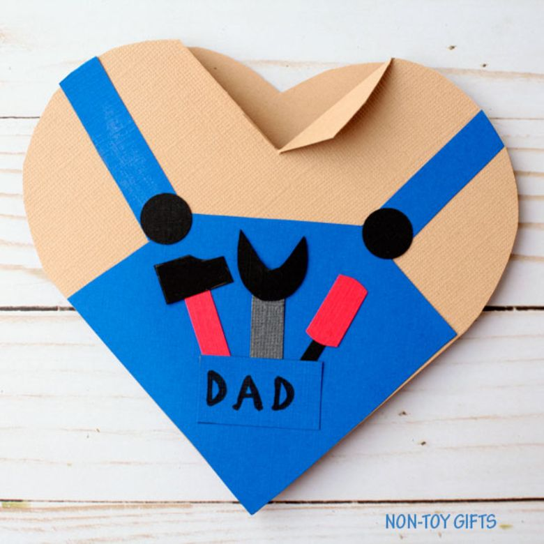 Handy Dad Heart Father's Day Card