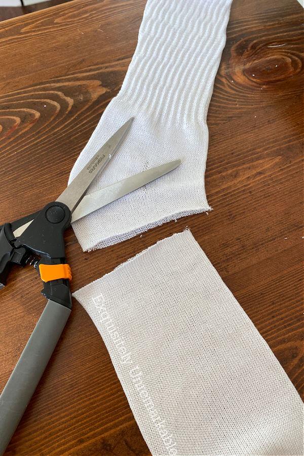 Cutting A Sock