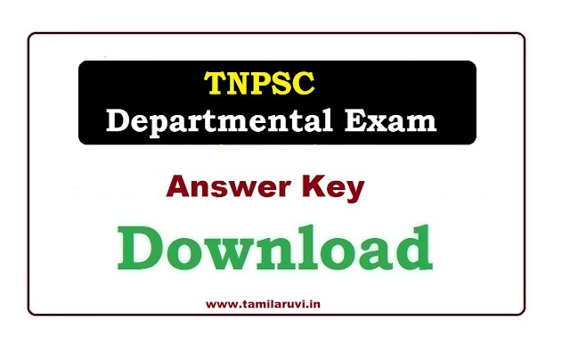 152 Departmental Exam Question Paper Descriptive and Tentative Answer Keys Objective by TNPSC