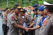 Kunjungan ke Sulbar, Kapolri Jenderal Idham Azis Disambut Pasukan Jarmat