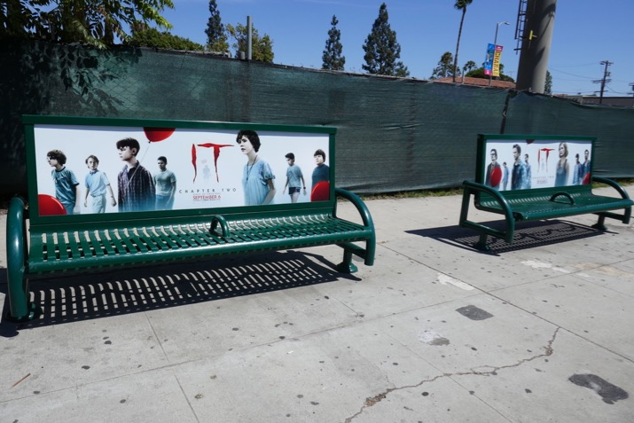 IT Chapter Two movie bench ads