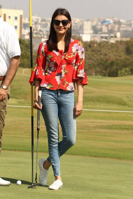 Kajal Aggarwal Stills At 5th Biennial Cancer Crusaders Invitation Cup