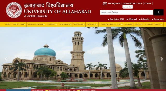 Allahabad University Admission Online Form 2020