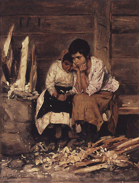 Маковский Владимир Егорович - За щепой. 1892