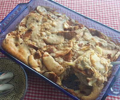 Russian Style Apple Batter Pudding