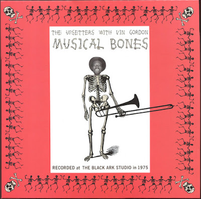 The cover features a photo of Vin Gordon's head superimposed on an illustration of a skeleton holding a trombone.