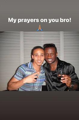 footballer Osazie Odemwingie accusing exposing Peter Okoye Psquare and Kanu Kwankwo's Wife, Amara Kanu image