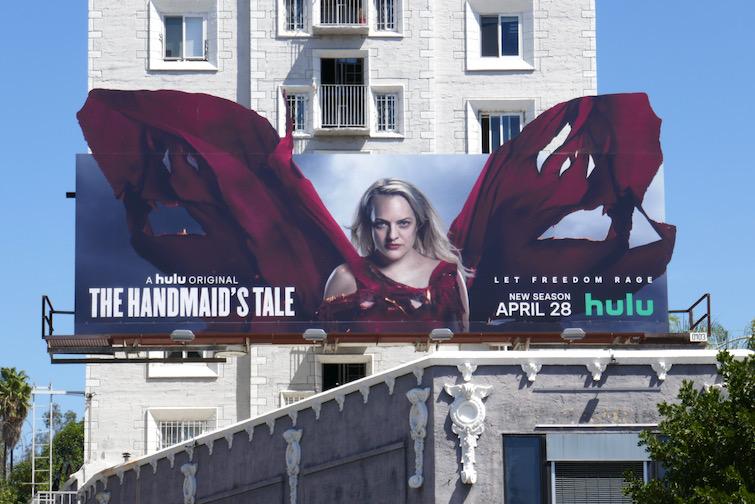 Handmaids Tale season 4 cutout billboard