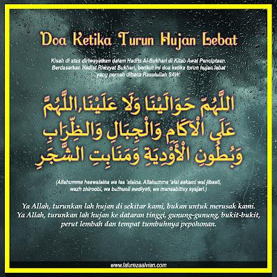 doa ketika hujan turun dengan lebat dan deras