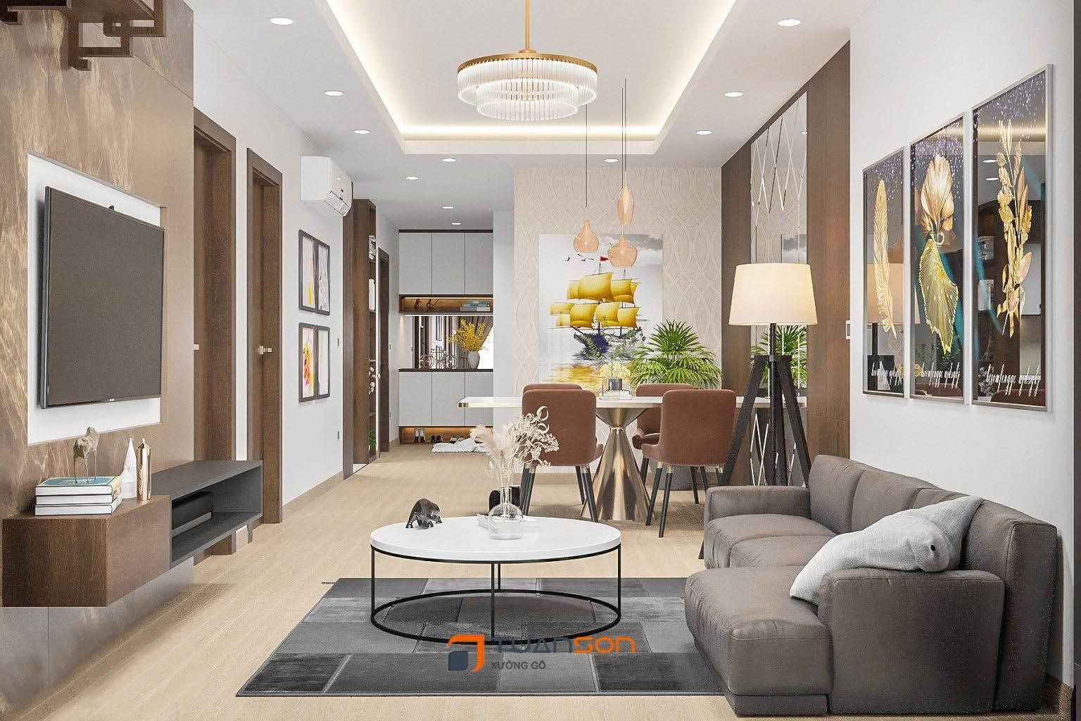 Thiết kế nội thất căn 3 phòng ngủ (77m2) IEC Thanh Trì