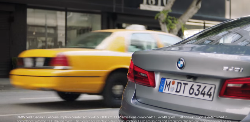 How to outwit the paparazzi. Scott Eastwood feat. BMW 5 Series.