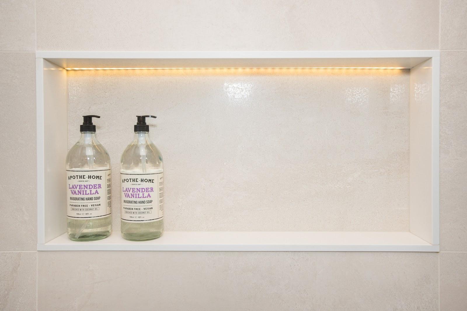 shampoo niche with leds