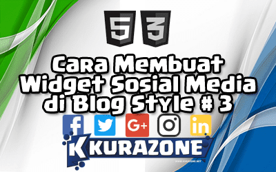 Cara Membuat Widget Sosial Media di Blog - Style #3