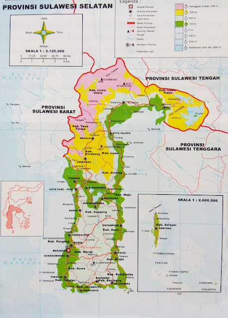 Gambar Peta Administrasi Sulawesi Selatan