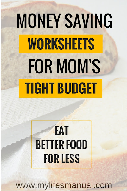 family budget worksheets for a low income family. This is the saving money worksheets for your family if you want to eat better for less