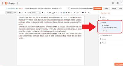 Cara menulis artikel di blogger yang baik untuk Pemula