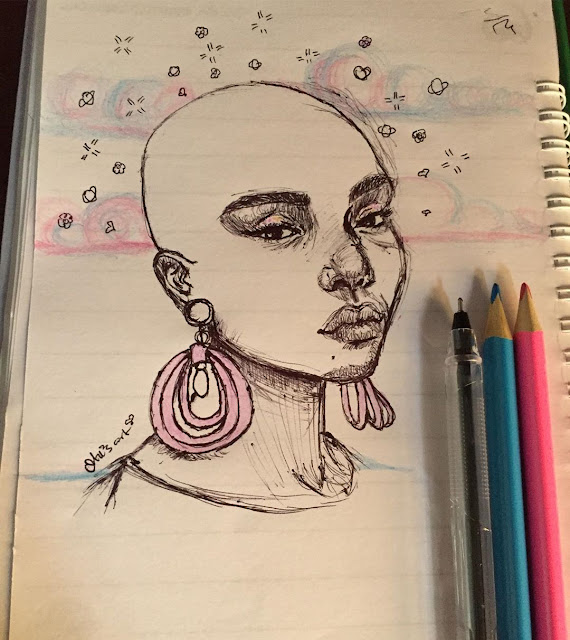 Bald black women