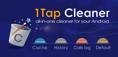 1Tap Cleaner Un solo toque para limpiar todo el caché, registros de búsquedas, historiales y llamadas.