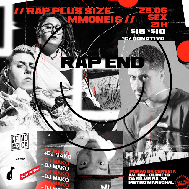 Festa Rap End #04 convida: Rap Plus Size I Hip-hop centro SP