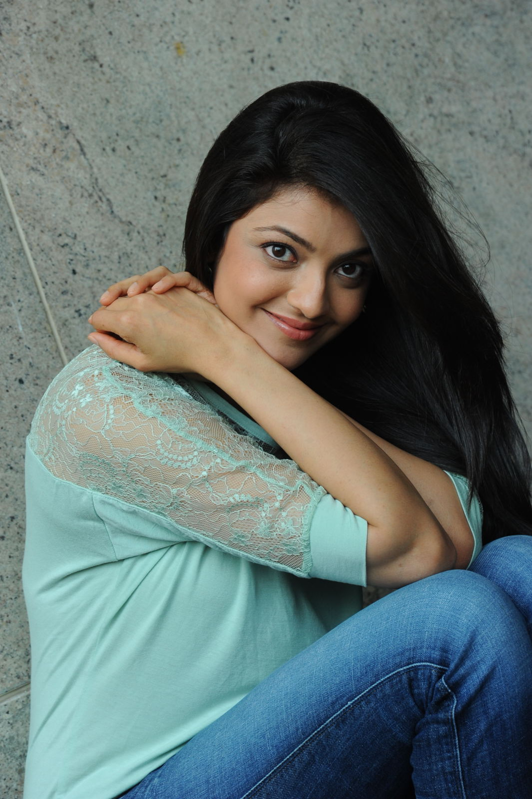 Kajal Agarwal Latest Photos In Blue Jeans