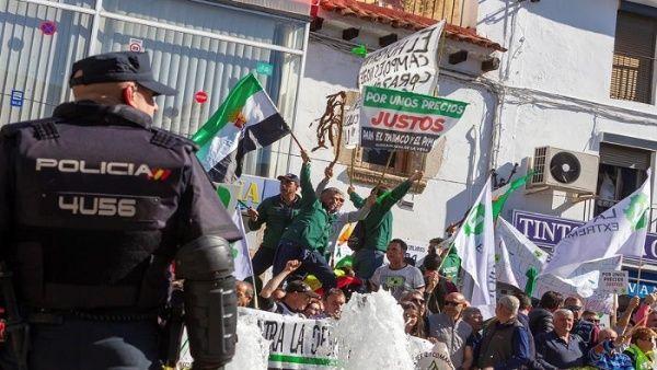 Continúan manifestaciones del sector agrícola en España