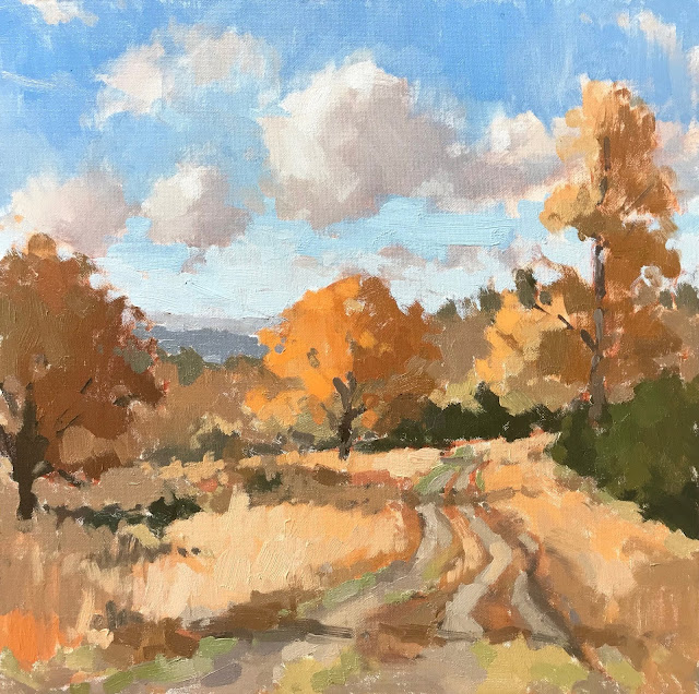 #416 'Autumn on Bramshott Common' 12×12″
