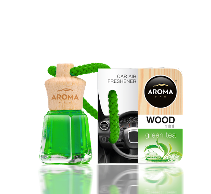Tinh dầu treo ô tô Aroma Car Wood Mini 4ml - Green Tea