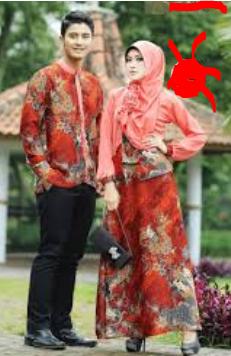 baju batik muslim couple modern
