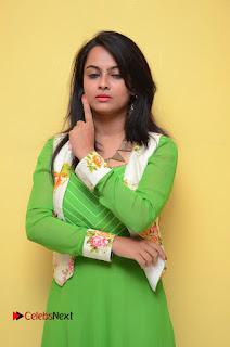 Actress Athidhi D Pictures in Green Dress at Attarillu Movie Press Meet  0044.JPG