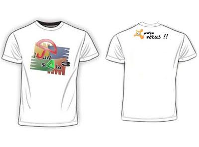 Desain Kaos Unik Antivirus (Guru pantura)