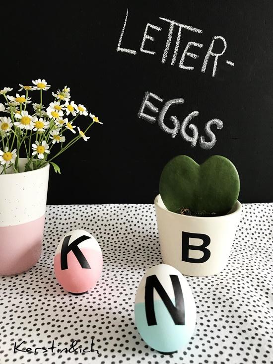 Buchstabeneier, Letter Eggs, Ostern Ostereier, Buchstaben, Kamille