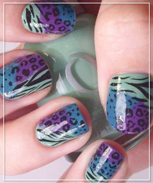 Multi Print Nail Art Design