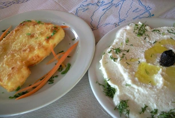Greek spicy cheese salad