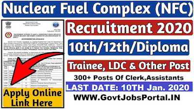 Nuclear Fuel Complex India Recruitment 2020