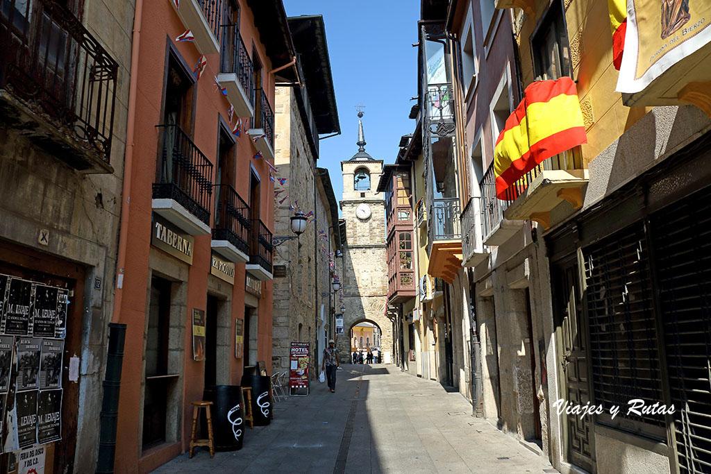 Calle del reloj Ponferrada, León